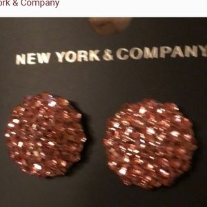 NYC round pave stud earrings